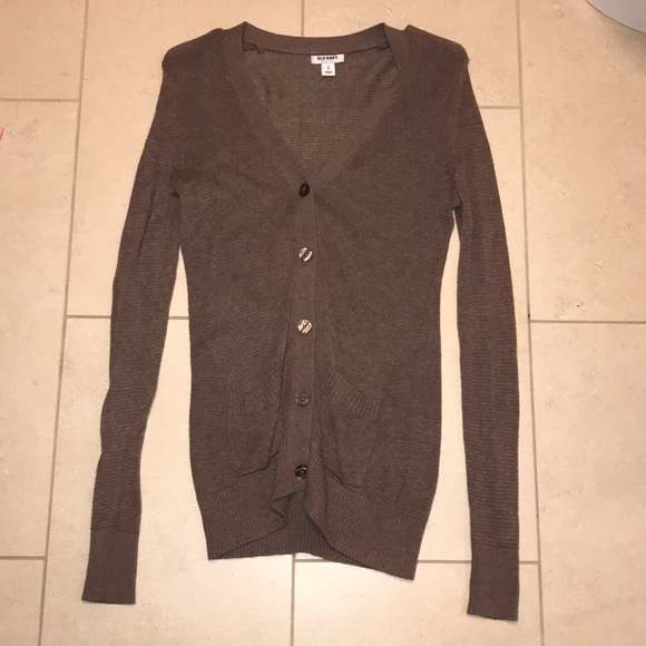 25% off Old Navy Sweaters - Brown button-up sweater from Katie's ...
